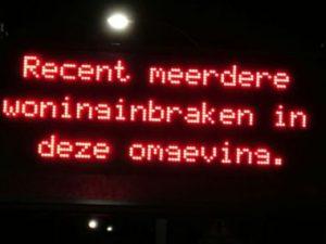 Camera Volendam Inbraakwaarschuwing